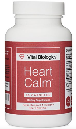 Heart Calm- Support and Maintain a Healthy Heart Rhythm- A Natural, Fast-Acting Formula with Magnesium Taurate, Glycinate, Malate and more. 90 Capsules. (Best Magnesium For Heart Health)