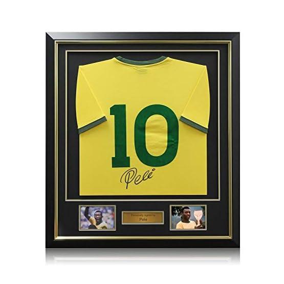 Nombre Pele 10 Brésil Football maillot, luxe encadrée (Gold Inlay)