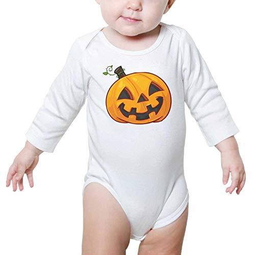 Kijhsaa Funny Halloween Pumpkin Infant Boys Girls Long Sleeve Baby Onesie Cute Baby -