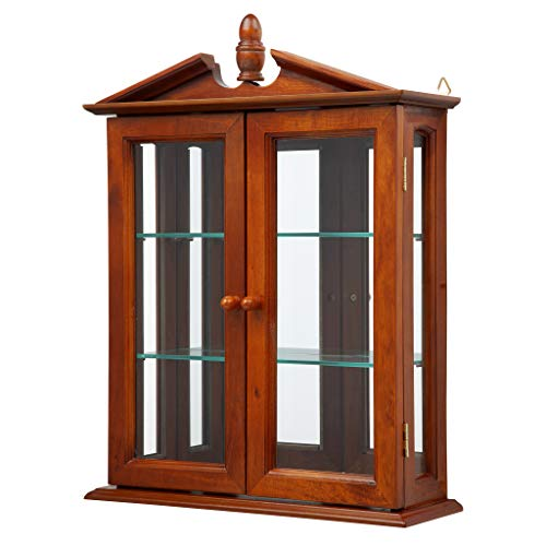 (Design Toscano Amesbury Manor Hardwood Wall Curio Cabinet: Mahogany Finish)