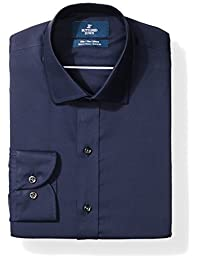 Buttoned Down Mens Standard Slim Fit Spread-Collar Stretch Non-Iron Dress Shirt