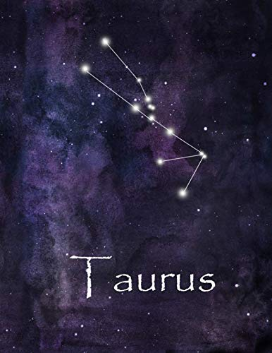 (Taurus: Constellation Lined Journal or Notebook, Deep Space and Taurus Design, 8.5