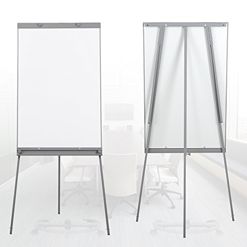 Swansea Adjustable Flipchart Easel Dry Erase Boards Magnetic Tripod Whiteboard 40X26 inches with 2 Side Arms by SwanSea (Image #2)