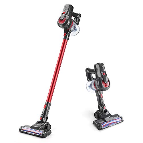 Cordless Vacuum Cleaner, 2 in 1 Stick Vacuum with Strong Suction Long Battery Life LED Headlights, Lightweight Handheld Vacuum