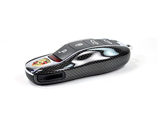 AutoTecknic Replacement Carbon Fiber Key Cover - Porsche (Car Porsche Keys Replacement)
