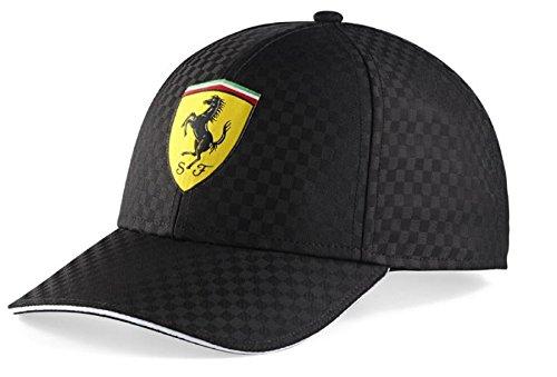 ferrari-black-checkered-shield-hat