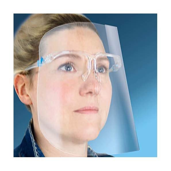 Stil-Vest-Schutzvisier-mit-Brillengestell-und-ohne-Gummiband-Gesichtsschutz-mit-Brillengestell