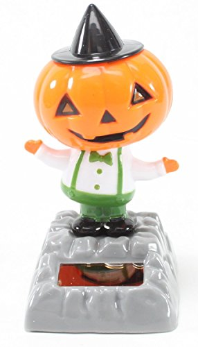 Mstechcorp, Solar Toy Dancing Skeleton Pumpkin for Halloween Party Games Bobble Head Ghost - USA SELLER!! (Pumpkin)