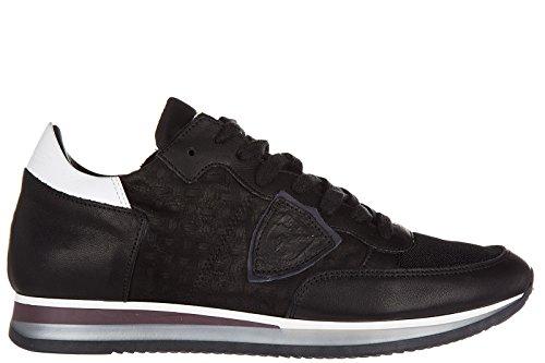 Philippe Model chaussures baskets sneakers homme en cuir low top tropez noir