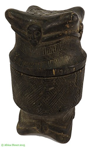 Kuba Carved Lidded Vessel Congo African ()