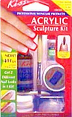 - Kiss Nail Frnc Acr Kit Size Ea Kiss French Acrylic Sculpture Kit