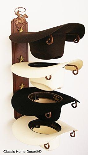 Cowboy Hat Holder Star Roper CT (Western Hat Rack)