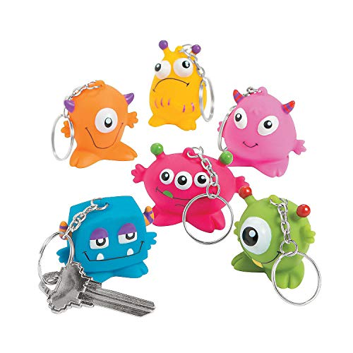 (Fun Express - Vinyl Monster Key Chain - Apparel Accessories - Key Chains - Novelty Key Chains - 12)
