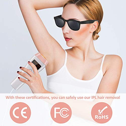 IPL Hair Removal, OOWOLF 999,900 Permanent Painless Flashes Facial body Professional Hair Treatment Whole body Home Use for Women and Men