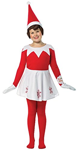[UHC Girl's Elf on a Shelf Outfit Christmas Theme Fancy Dress Child Costume, Child M (7-10)] (Elf Outfits For Kids)