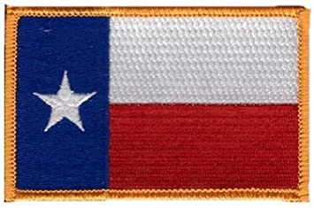 Superior Quality Iron-On // Saw-On Embroidered Patch Each one is individually carded and sealed in a professional retail package The Flag of TEXAS State PATCH Made in the USA 3.5 x 2.25 Inches