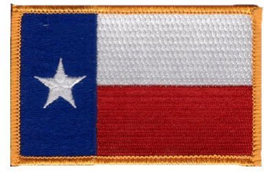 Each one is individually carded and sealed in a professional retail package Superior Quality Iron-On // Saw-On Embroidered Patch parche The Flag of TEXAS State Patch parche 3.5 x 2.25 Inches Made in the USA