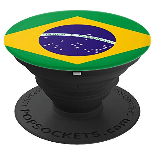 Brazil Patriotism Inspired Brazilian Flag Gift - PopSockets Grip and Stand for Phones and - Verde Mount Color