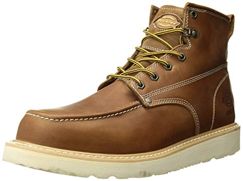 Dickies Men's Trader Steel Toe EH Construction Boot, Luggage tan, 10.5 Medium ()