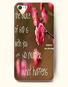 diy zheng Ipod Touch 5 5th Case OOFIT Phone Hard Case **NEW** Case with Design The Grace Of God Is With You No Matter What Happens- Flowers - Case for Apple Ipod Touch 5 5th //