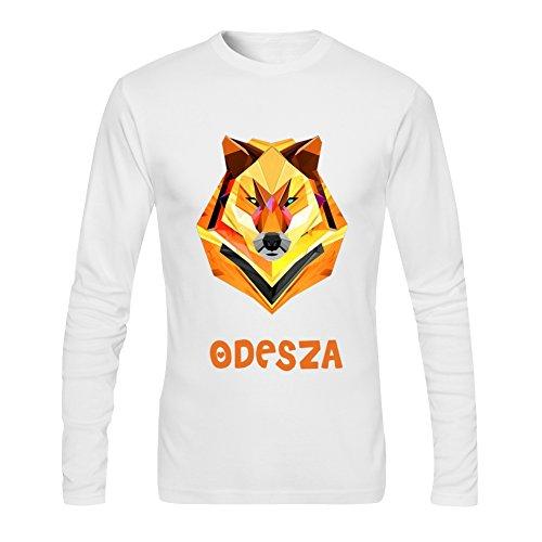 Diy Odesza Men's Tshirt Long Sleeve by Fangbai Liu M White