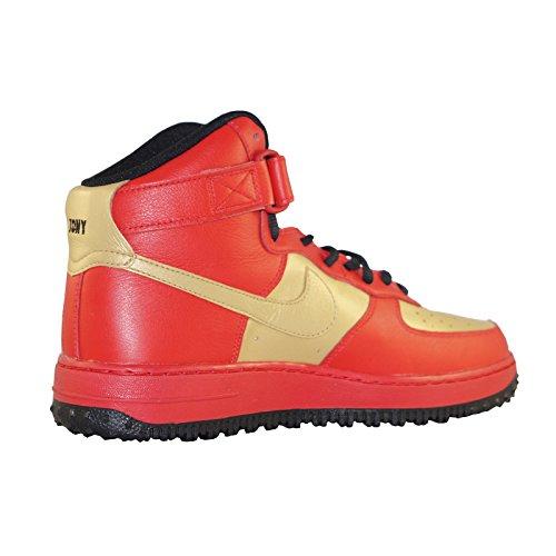 Nike Air Force One 1 High Nike-ID Sneaker Basketballschuhe rot/gold TONY STARK