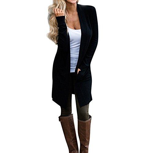 Sol Casual Señoras Otoño Color Moda Ocio De Estudiante Cardigan Luz Chaquetas Blusa Las Sólido Largas Outwear Abrigo Elegante Puro Del qvaCgw