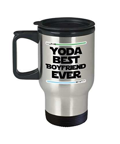 Yoda Best Boyfriend Ever Funny Travel Mug Gift Fiance Boy