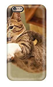 Hot Tpu Cover Case For Iphone/ 6 Case Cover Skin - Cat Jump Air Attack Felines Animal Cat