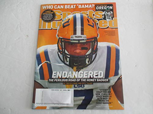 OCTOBER 22, 2012 SPORTS ILLUSTRATED FEATURING TYRANN MATHIEU OF LSU TIGERS *ENDANGERED-THE PERILOUS ROAD OF THE HONEY BADGER BY THAYER EVANS & PETE THAMEL* *WHO CAN BEAT 'BAMA?* MAGAZINE