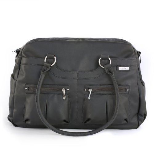 Jj cole faux leather satchel diaper bag