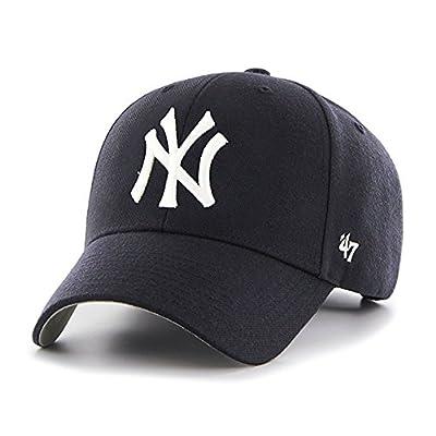 New York Yankees '47 Brand Cap Home MVP Hat Velcro Adjustable - Navy Blue