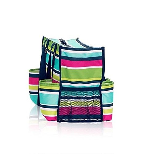 Amazoncom Thirty One Zip Top Organizing Utility Tote Preppy Pop