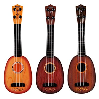 Dongtu 1Pcs Durable Multifunctional Cute Baby Ukulele Musical Toy Early Education Toy Jackets Brown: Clothing