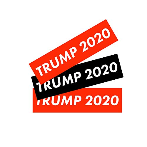 3 Pack! President Donald Trump 2020 Bumper Sticker Decal Election Year Conservative Republican Patriotic USA Keep America Great (Black, Red) ()
