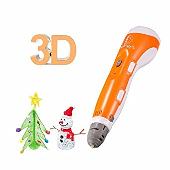 3D Pen for Kids,3D Printer Doodler Drawing Printing Pen with 2 Free  Filament,