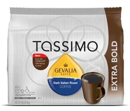 (Gevalia Dark Italian Roast Coffee - Extra Bold - T Discs for Tassimo Brewers (2pack) )