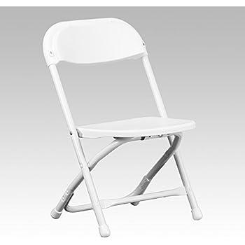 Flash furniture kids white plastic folding for White plastic kitchen chairs