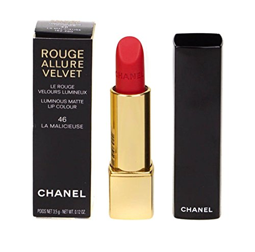 Chanel Rouge Allure Velvet Lip Colour # 46 LA MALICIEUSE 3.5G/0.12OZ (Rouge Chanel 3.5g/0.12oz)