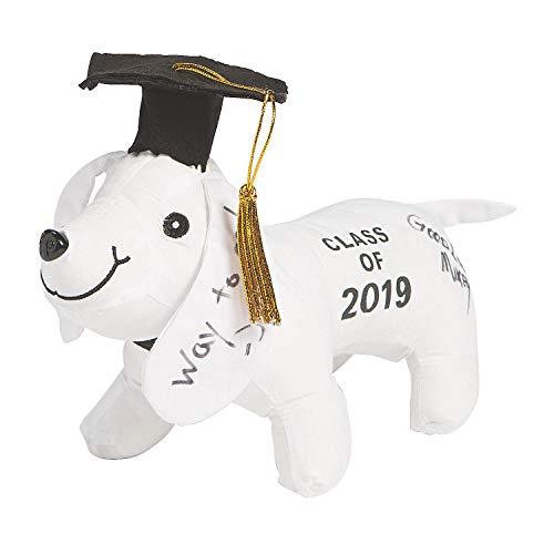 Autograph Graduation Bear (Fun Express - Class of 2019 Autograph Dog for Graduation - Toys - Plush - Stuffed Autograph - Graduation - 1)