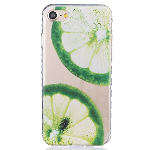 Für Apple iPhone 7 (4.7 Zoll) Hülle ZeWoo® TPU Schutzhülle Silikon Tasche Case Cover - BF079 / Zitrone