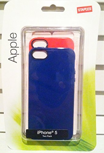 staples-apple-iphone-5-5s-tpu-shell-dark-blue-red-2-pack
