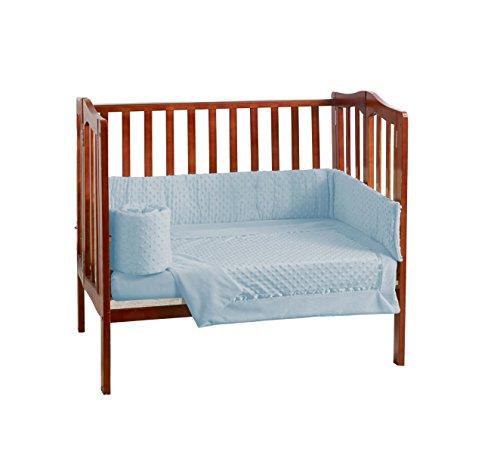 Baby Doll Bedding Heavenly Soft Mini Crib/Port-a-Crib Set, Blue