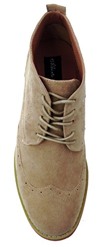 Up DT3A Lace Classic Leather Casual Brogue Chukka Wingtip Lined Shoes Sand Men's Oxfords Suede Ankle Boots 0wrS80