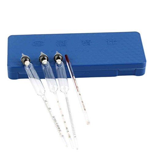 Minzhi Professional Measure 0 to 100% Alcohol Content 3 Pieces Hydrometer Set by Minzhi