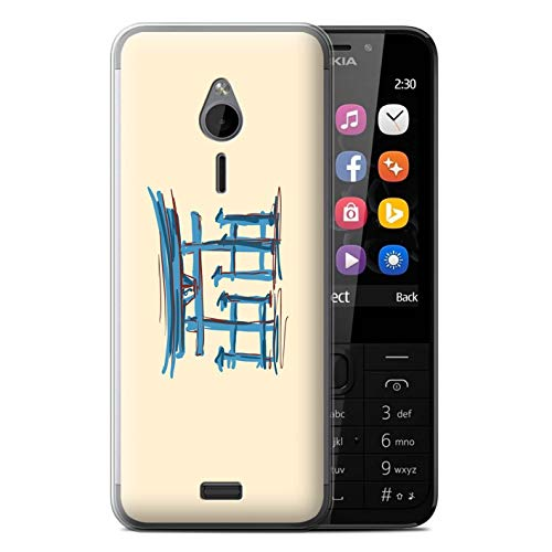 eSwish Gel TPU Phone Case/Cover for Nokia 230 / Torii Gates/Japan Design/Landmarks Collection ()