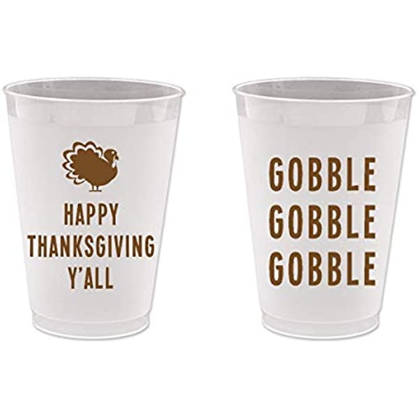 Happy Thanksgiving Gobble Till You Wobble Thankful AF Holiday Cup Custom Cup Thanksgiving Cup Fall Party Thanksgiving Party Favors