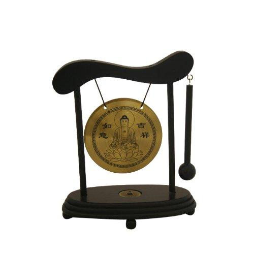 Zen Art Brass Feng Shui Desktop Gong Asian Home
