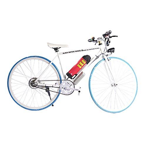 ELECTRIC Fixie Bike 350W 33MPH Alien Motor Wheels TM (WHITE/BLUE/WHITE/HOT PINK)