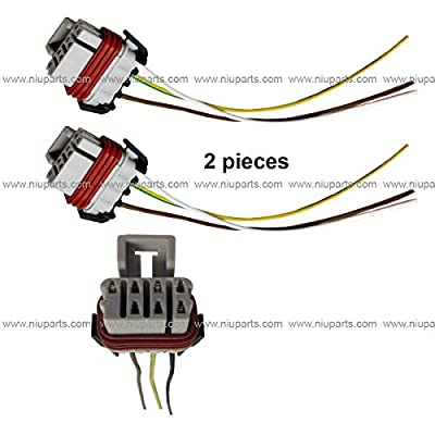 2pcs 3 Wire Plug 3pin Female High & Low Beam Connector (Fit: Freightliner Columbia & M2 106 112 Business Class Headlight): Automotive